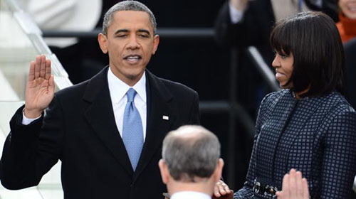 President Barack Obama Takes Oath of the Office