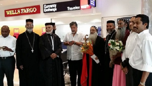 Reception to HH the Catholicos at Atlanta Air port on September 18, 2014