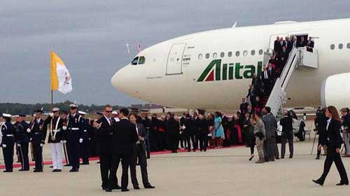 Pope arrives in the US-photo by Fr.Alexander J Kurien